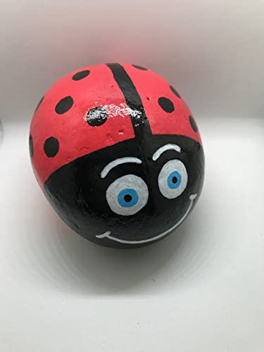 Ladybug Design Hand-Painted Rock available from AMAZON