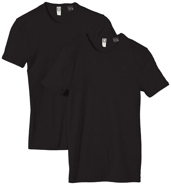 Pack de 2 G-Star Base 2-Pack Camiseta de Manga Corta con Cuello Redondo para Hombre