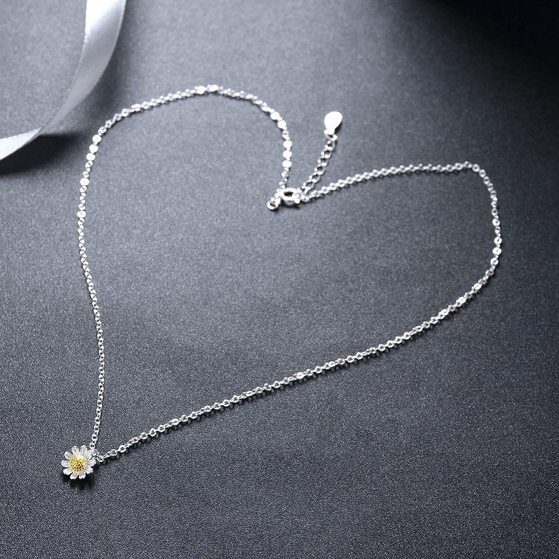 MMC Silver Necklaces Flowers Chrysanthemum Womens Pendants