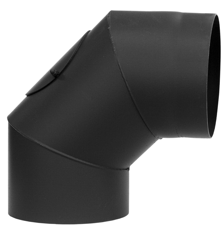 Darco inodoro de ksr150/90 de CZ2 Horno Tubo Arco Soldado 90 grados con Putz Puerta 2 mm AdOcean Senotherm de 600, 150 mm de diá metro, color negro 150mm de diámetro DARCO SP. Z O.O. WC-KSR150/90-CZ2