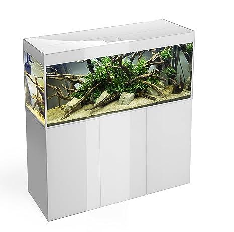 Aquael Glossy 120 Acuario LED para acuariofilia blanco 3 x 18 W 120 x 40 x