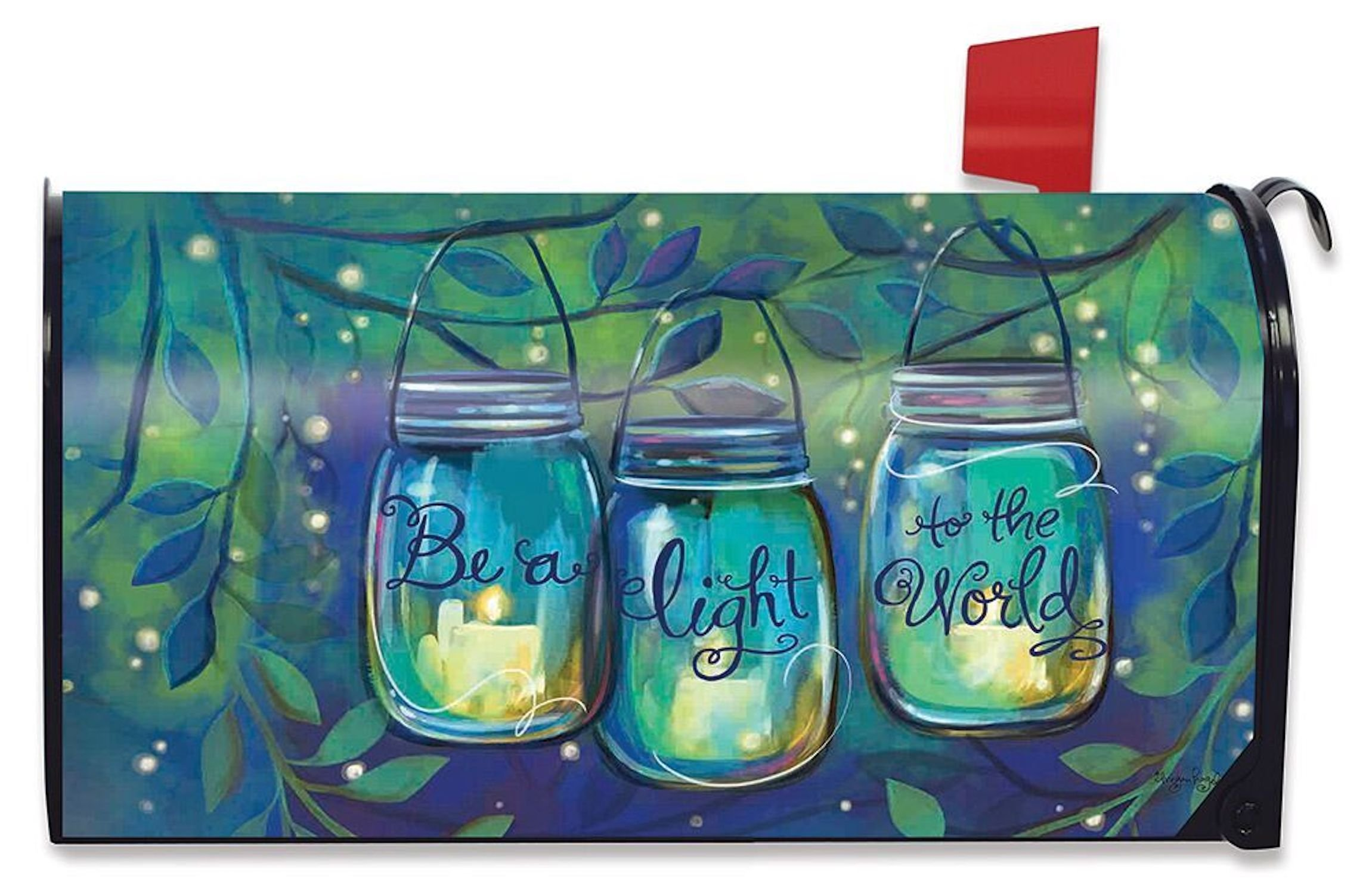 Briarwood Lane Be a Light Spring Mailbox Cover Inspirational Candles Standard by Briarwood Lane