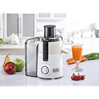 Black+Decker 250W Juicer Extractor with Large Feeding Chute, White/Grey - JE250-B5