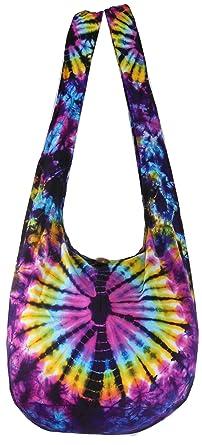 Amazon.com: Tie Dye Sling Crossbody Shooulder Bag Purse Hippie ...
