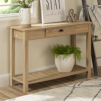 Peachy We Furniture Azf48Cyetnt Country Style Entry Console Table 48 Natural Gmtry Best Dining Table And Chair Ideas Images Gmtryco