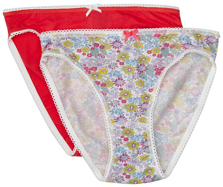 Petit Bateau Big Girls 2-pk Floral Underwear