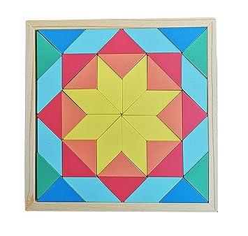 Bjulian Mosaico De Placa De Rompecabezas De Colocación De Madera