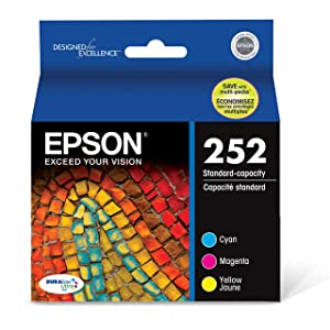 Epson T252520 DURABrite Ultra Color Combo Pack Standard Capacity Cartridge Ink