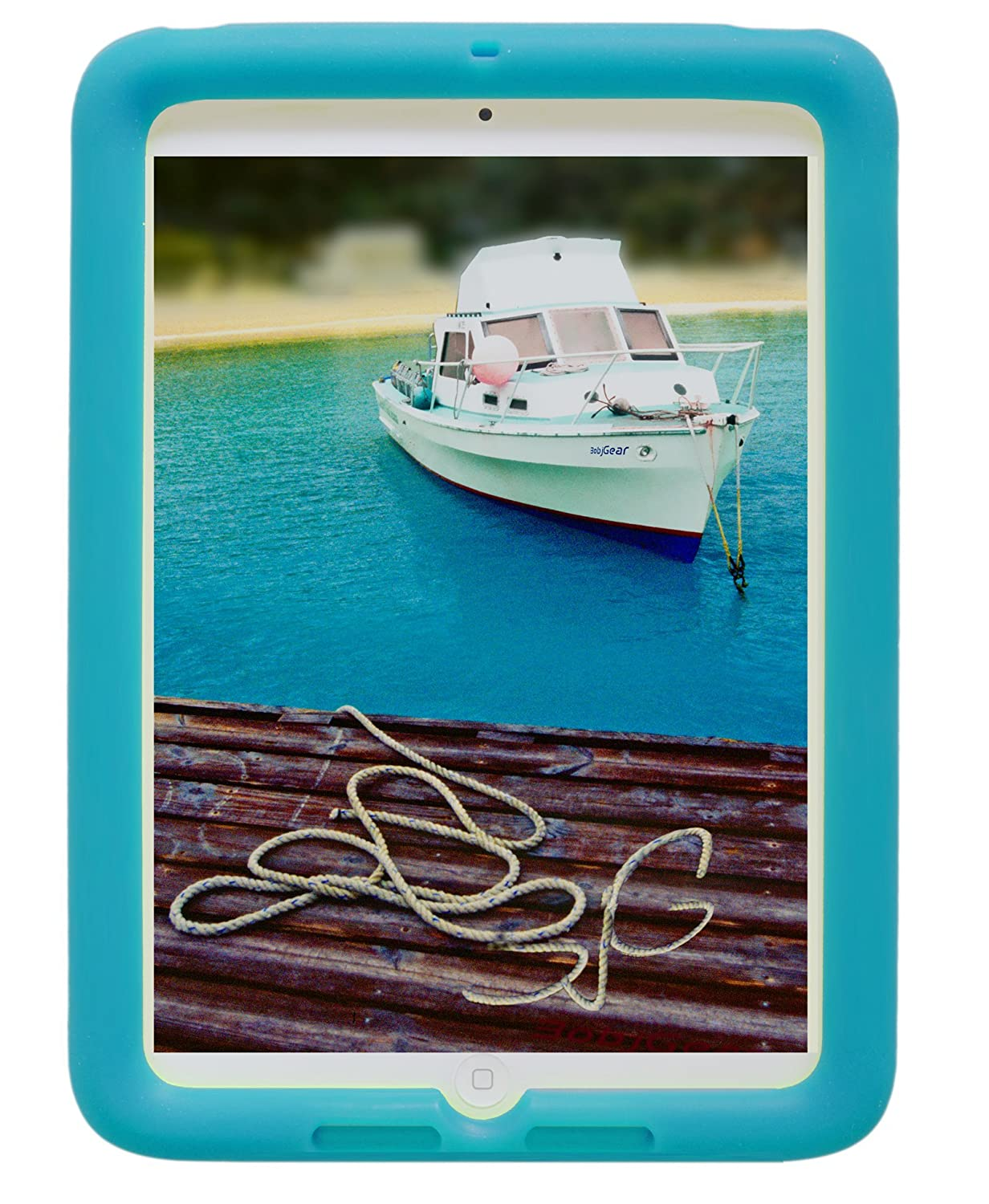 Bobj Rugged Cover for iPad Mini - Terrific Turquoise