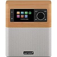 sonoro Stream Küchenradio (FM/DAB/DAB+/WLAN, AUX-in, Bluetooth, Spotify Connect) Ahorn/Weiß - Internet-Radio für Küche und Bad