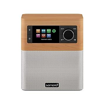 sonoro Stream Radio Internet (FM/Dab+/WiFi, AUX-in, Bluetooth, Spotify  Connect) érable/Blanc - Radio numérique - Salle de Bain, Cuisine