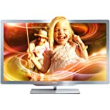 Philips 37PFL7606K/02 94 cm (37 Zoll) Ambilight 3D LED-Backlight-Fernseher (Full-HD, 400 Hz PMR, DVB-T/C/S, Smart TV) silbergrau