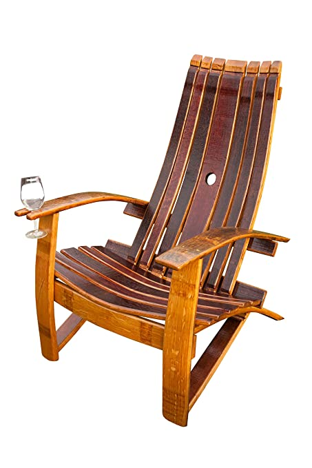 Wine Barrel Adirondack Chair  sc 1 st  Amazon.com & Amazon.com : Wine Barrel Adirondack Chair : Garden u0026 Outdoor