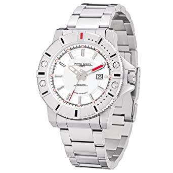 Amazon.com: Jorg Gray | Silver Stainless Steel Watch w/Stainless Steel Band | JG9500-21 | White Dial: Jorg Gray: Watches