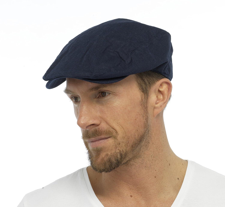 Tom Franks Mens Cotton Linen Lightweight Vintage Style Flat Cap GL776