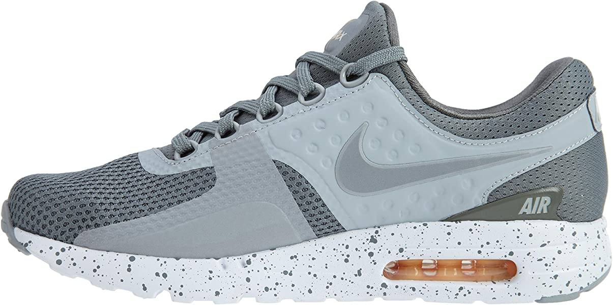 efc066d9c6 Nike Mens Air Max Zero Premium Mesh Running Athletic Shoes Gray 8 Medium  (D). Back. Double-tap to zoom