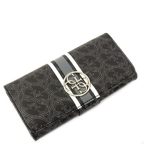 cffebe46e0 BORSELLINO GUESS - Heritage Sport - File Clutch - Black: Amazon.it ...