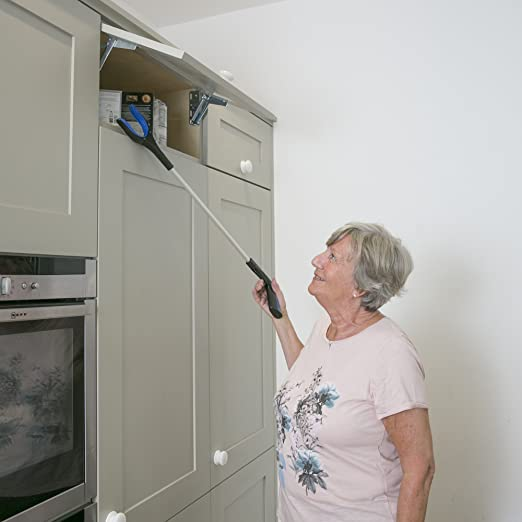 Calibre Care Nifty Nabber - High Quality Reacher Grabber Ideal For The Elderly, Disabled & The Hard To Reach Places, Eliminates Bending Over & Straining With It's Rotating Head - Extra Long & Durable Easy To Use Picker Upper