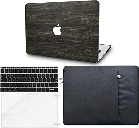 KECC Laptop Case for New MacBook Air 13 Retina Italian Leather Cover A1932 Grey Leather 2020//2019//2018, Touch ID