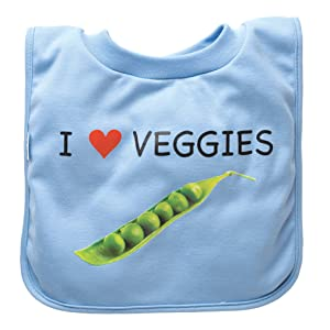 green sprouts Favorite Food Bib, Light Blue Veggies (Discontinued by Manufacturer)