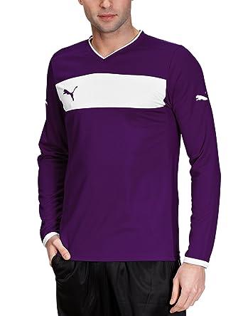 Puma Langarmshirt Powercat 3.12 Long Sleeve Shirt - Camiseta de equipación de fútbol para niño, color morado, talla M: Amazon.es: Deportes y aire libre