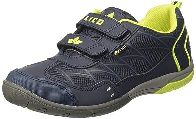 Lico Unisex-Erwachsene Jacky Vs Sneaker, Blau (Marine/Grau/Lemon), 38 EU