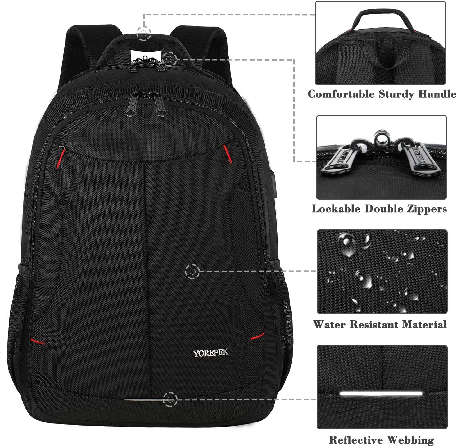 Laptop Backpack,Extra Large Travel Laptop Computer Backpack for Men Women,TSA Durable USB Backpack with Luggage Sleeve,Water Resistant Big Business College School Bookbag Fits 17 Inch Laptops