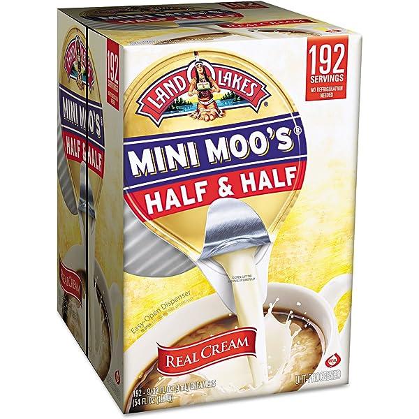 Land O'Lakes 827976 Mini Moo's Half & Half,  3 oz, 192