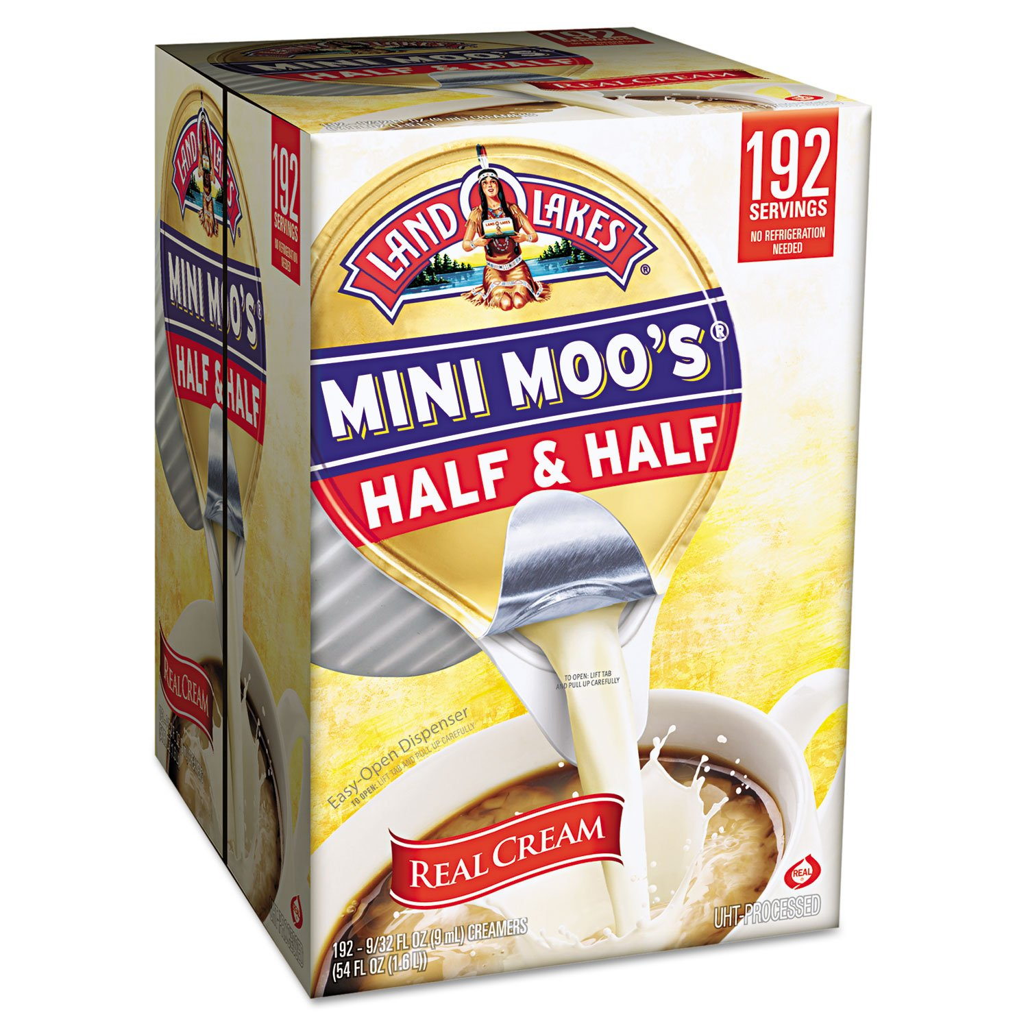 Land O'Lakes 827976 Mini Moo's Half & Half, .3 oz, 192/Carton by Land O Lakes