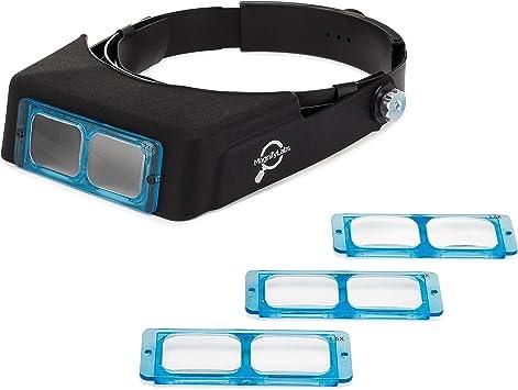 Headband Magnifier Optivisor Head Magnifier Hands Free Magnifying Glass Lens Kit