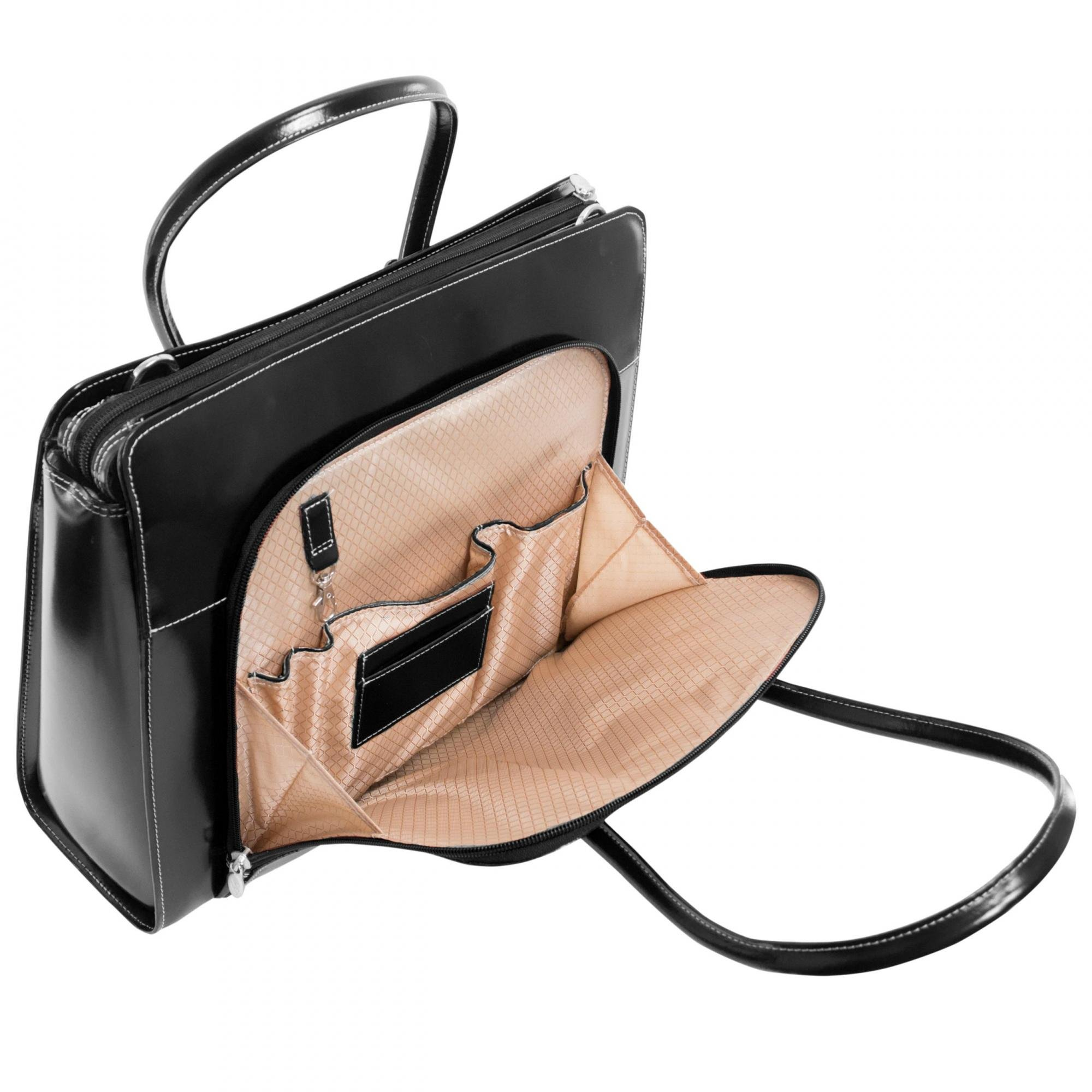 McKleinUSA LAKE FOREST 94335 Black Leather Women's Case w/ Removable Sleeve by McKleinUSA (Image #6)