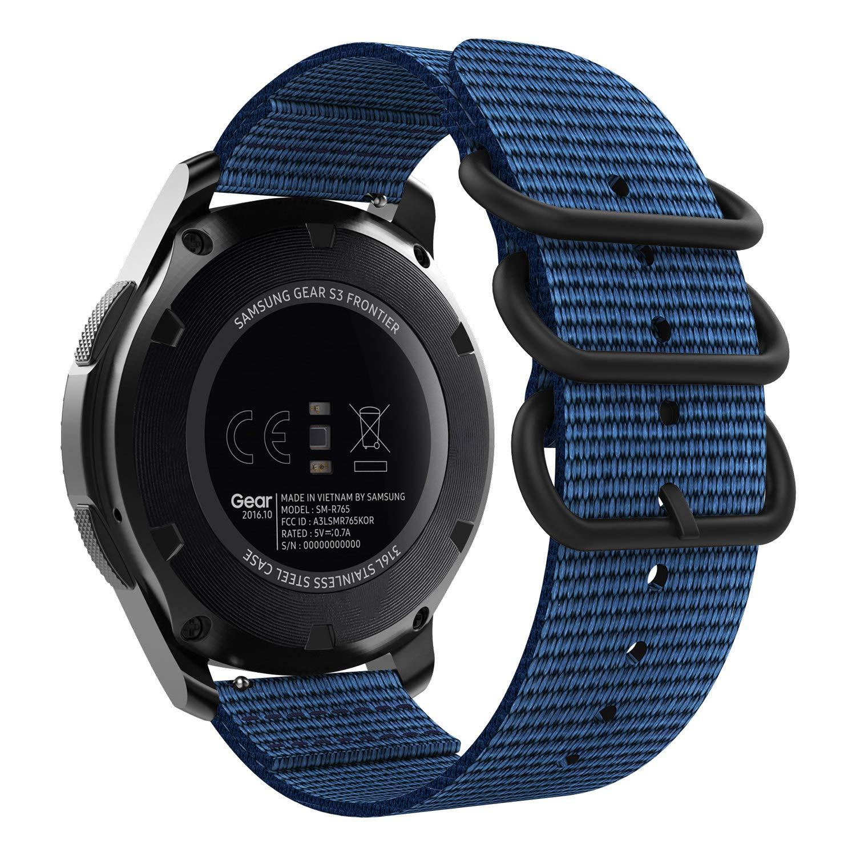 MoKo Compatible con Samsung Gear S3/Gear S3 Classic/Frontier/Galaxy Watch 46MM/Ticwatch pro/Huawei Watch GT 46mm Reloj Correa, Pulsera Deportivo de ...