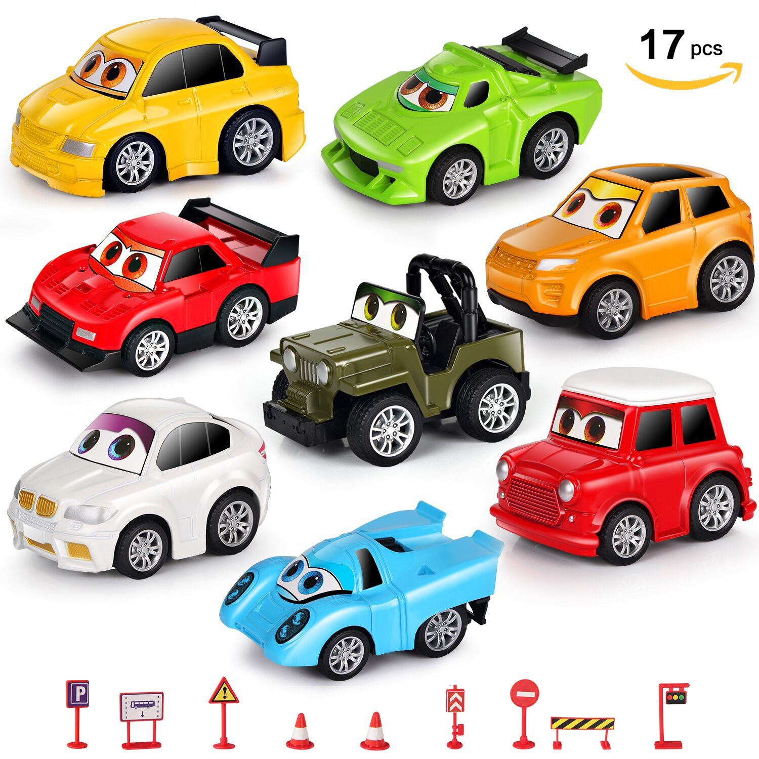 Amazoncom Vohuko Diecast Pull Back Toy Cars,17Pcs Set Of 8
