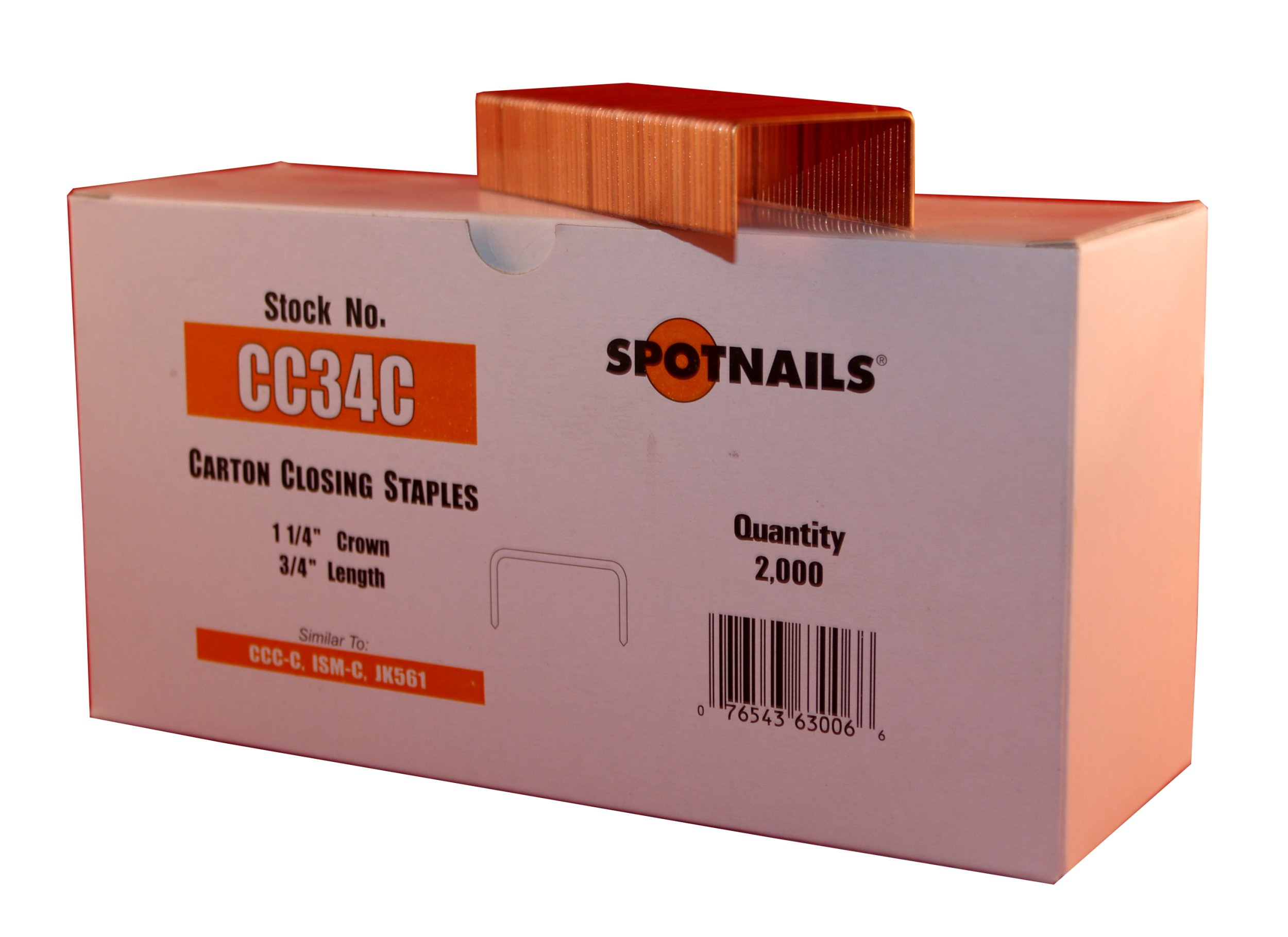 Spot Nails CC34C 1-1/4-Inch Crown 3/4-Inch Leg Carton Closing Staple (Quantity 2000)