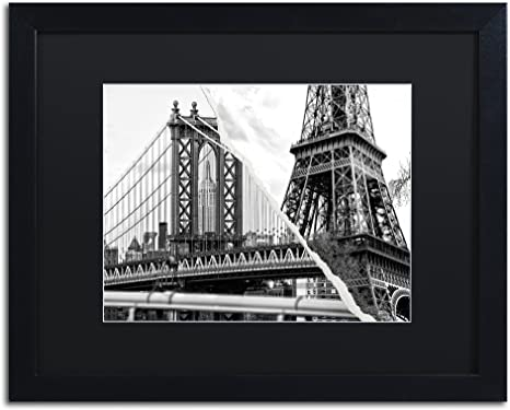 Amazon Com The Tower And The Bridge By Philippe Hugonnard Artwork 16 By 20 Black Matte Frame Home Kitchen
