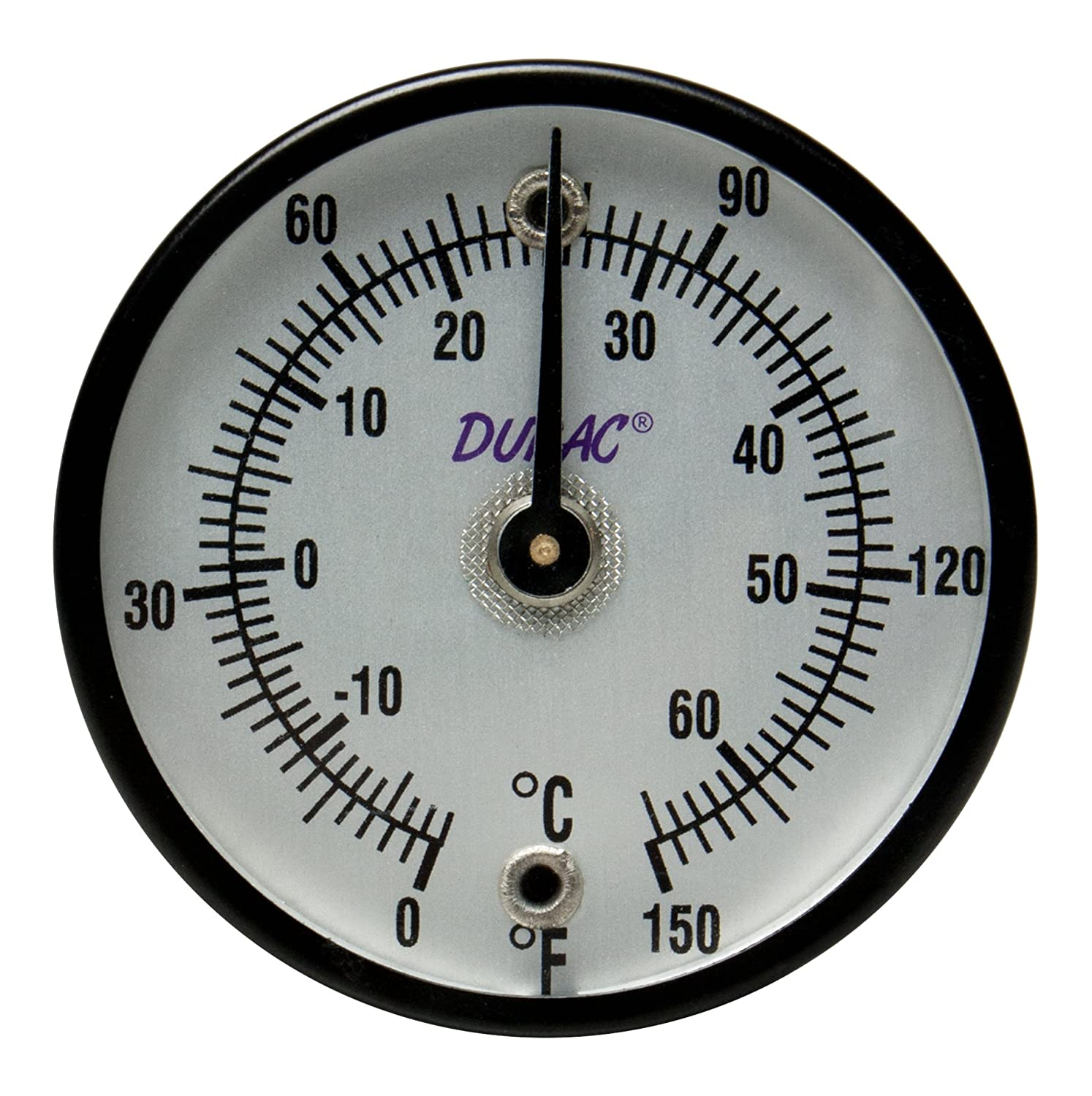 50mm PROPRIETARY 2 in. Dial Single Thin Spring B61320-2800 H-B DURAC Bi-Metallic Surface Temperature Thermometer; -18//120C 0//250F