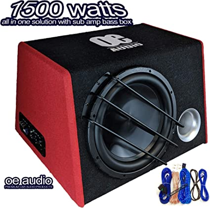 Amplificatore subwoofer per auto, 1500 Watt, 30,5 cm