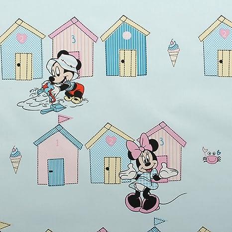 Bebé azul Mickey mouse Minnie Disney para niños pastel de casetas de playa impresión Bedsheet cojín