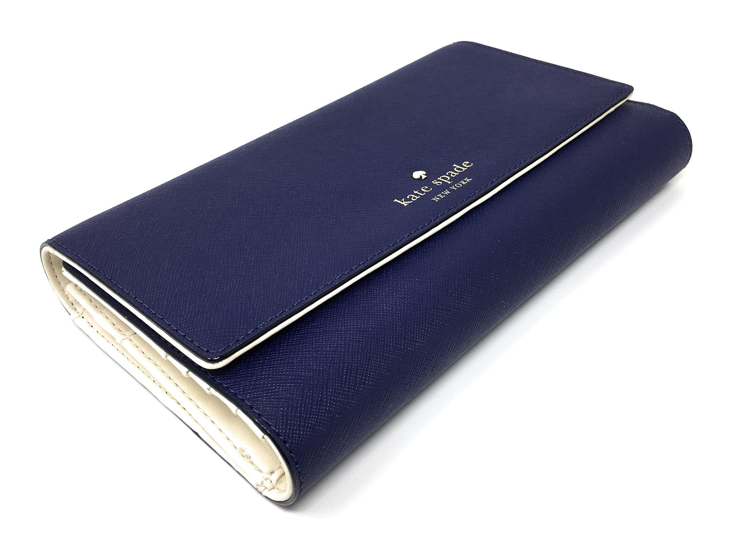 Kate Spade New York Mikas Pond Phoenix Trifold Leather Wallet (Sapphire) by Kate Spade New York (Image #6)
