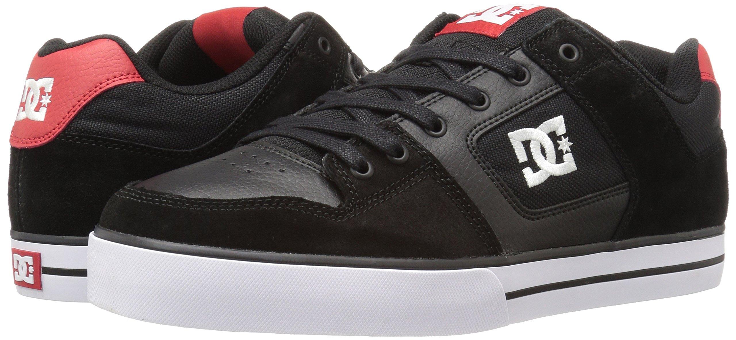DC Shoes Mens Shoes Pure - Shoes - Men - 9.5 - Black Black/Athletic Red 9.5 by DC (Image #6)