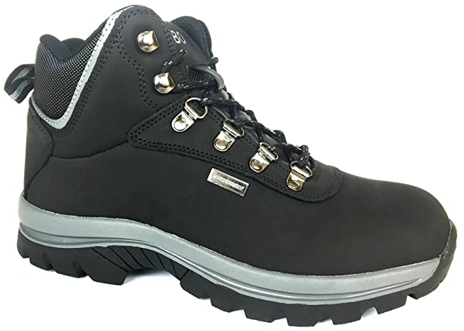 """6"""" Waterproof Leather Black Booth Rubber Sole Size 15093 8.5"""