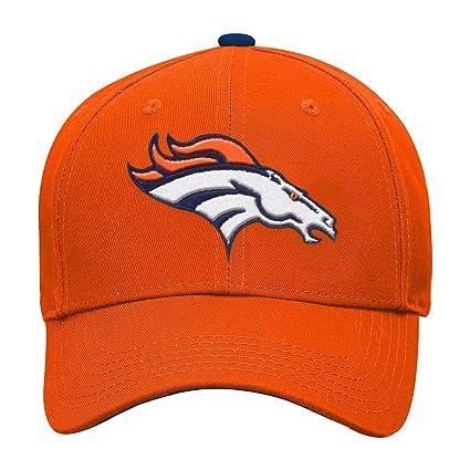 3d5b7f98 NFL by Outerstuff NFL Denver Broncos Youth Boys Basic Structured Adjustable  Hat Orange, Youth One Size
