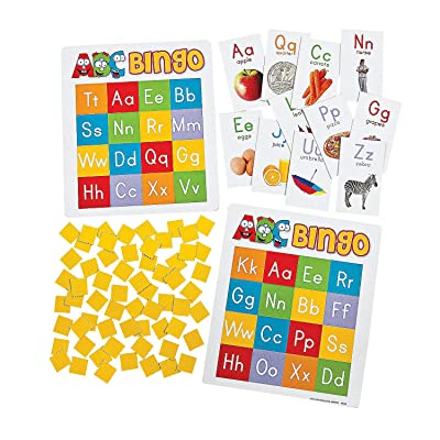 Fun Express ABC Bingo - 26 Pieces - Educational and Learning Activities for Kids: Toys & Games