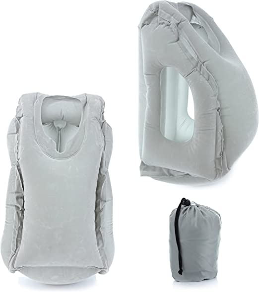 Amazon.com: Coililly almohada de viaje inflable con vista ...