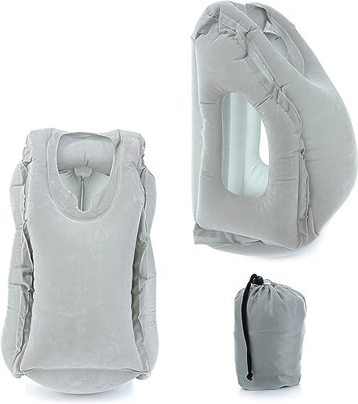 Amazon.com: Coililly almohada de viaje inflable con vista ...