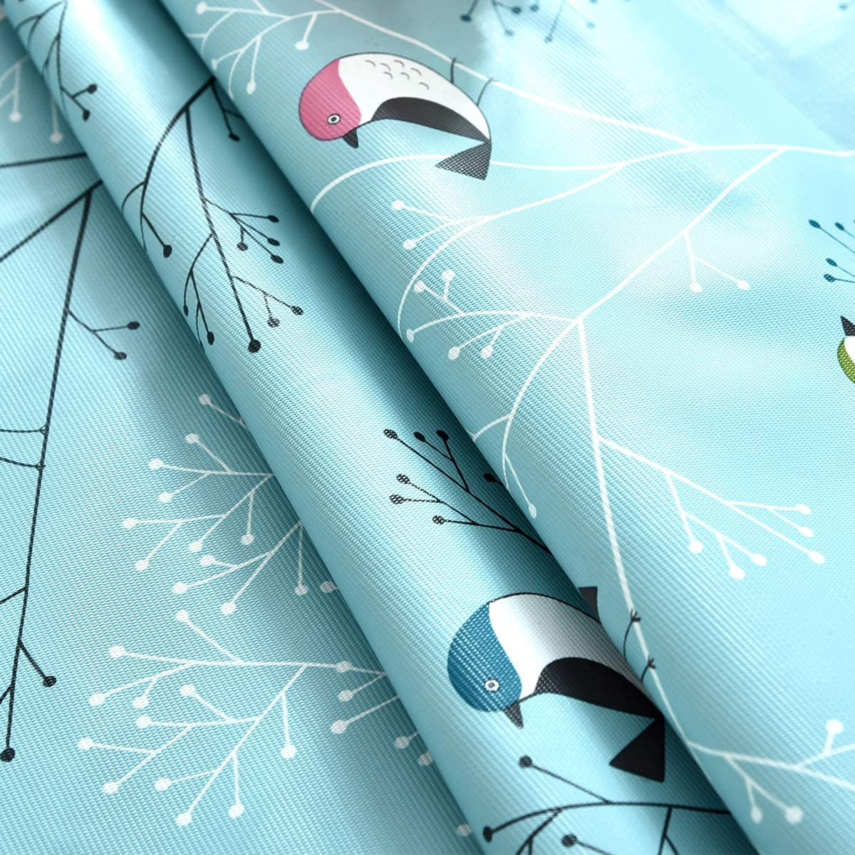 6Ft Bird Tablecloth Silver Grey 54 x 72 Inch Vinyl Oilcloth Tablecloth Small Rectangle Peva Vynle Wipeable PVC Waterproof Plastic Spill Proof Tablecloths Weights for Outdoor Picnic Camping