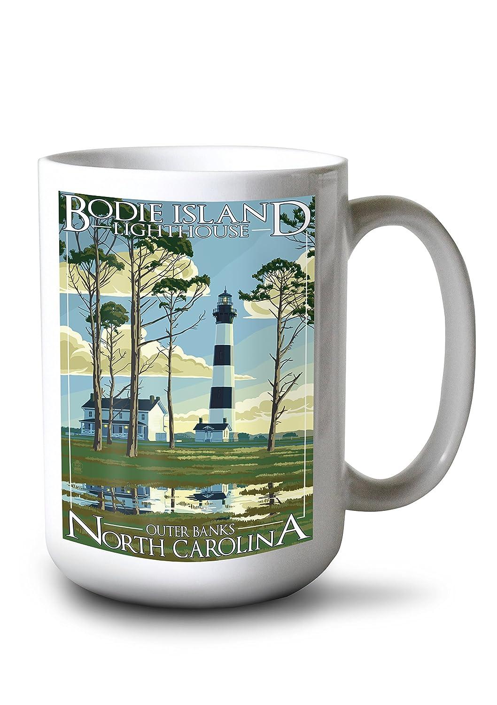 【新品、本物、当店在庫だから安心】 Bodie Island Lighthouse B077RWRWN7 North - Outer Banks, Lantern North Carolina (9x12 Art Print, Wall Decor Travel Poster) by Lantern Press B077RWRWN7 15oz Mug 15oz Mug, ガーデニングライフ:9544e3ec --- martinemoeykens.com