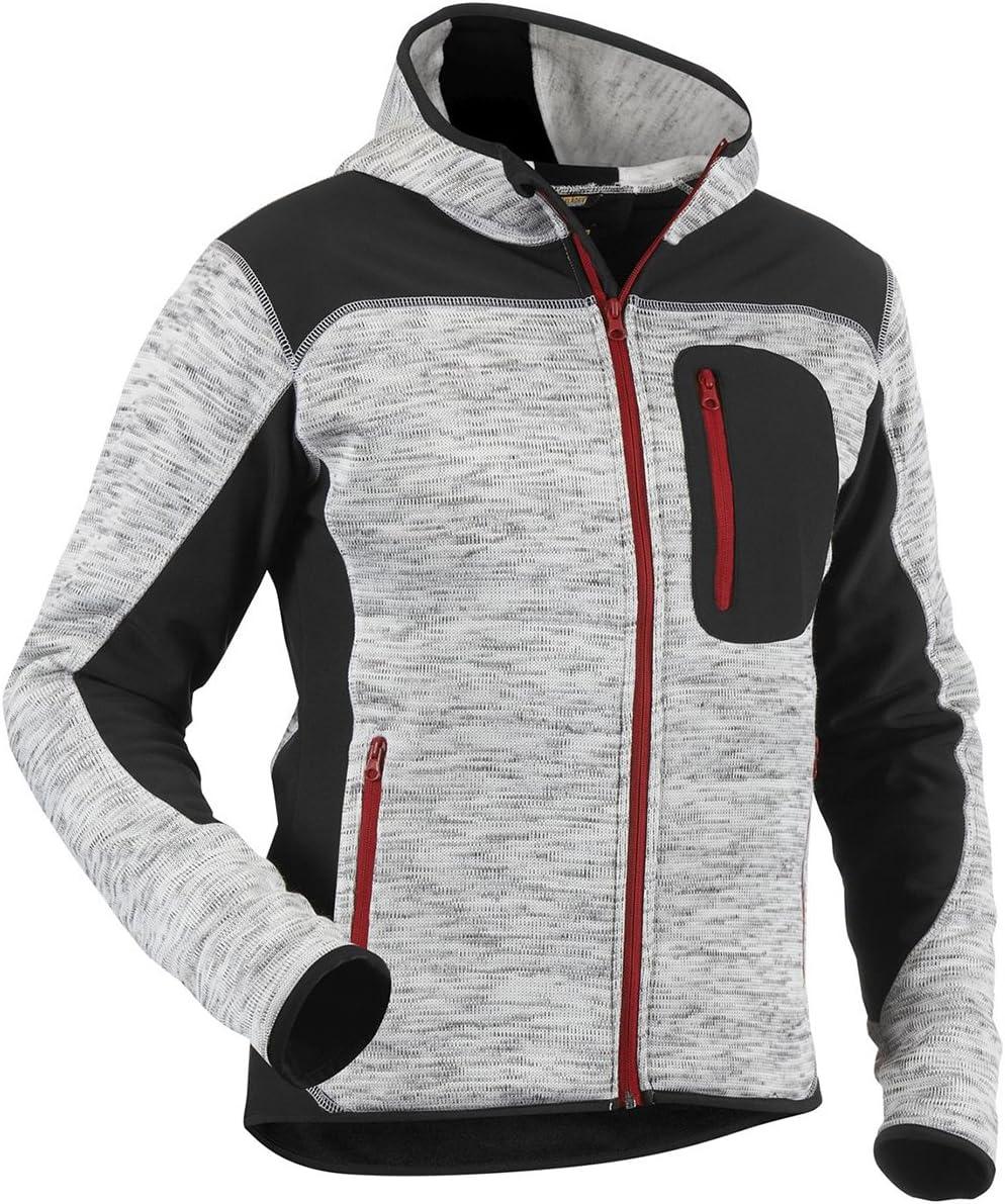 3X-Large Blaklader 493021179799XXXL Knitted Jacket Dark Grey//Black
