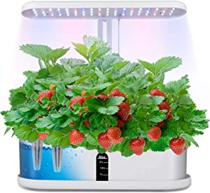Hydroponics Growing System, Automatic Timer Indoor Herb Germination Kits with LED Grow Light, Height Adjustable Smart Garden Starter for Home Kitchen,10 pods