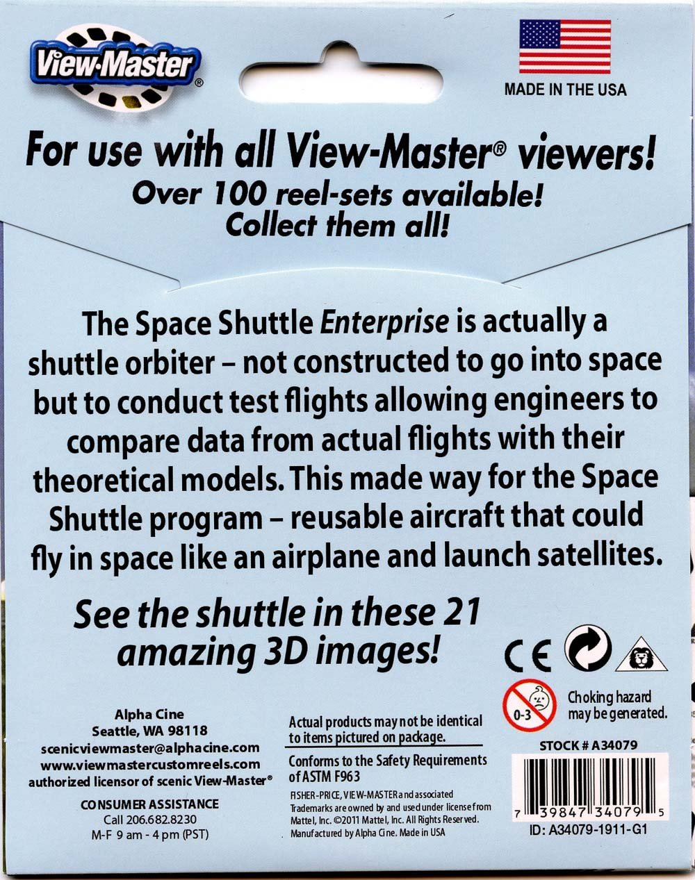 ViewMaster 3Reel Set - The Space Shuttle - 21 3D Images by 3Dstereo ViewMaster (Image #2)